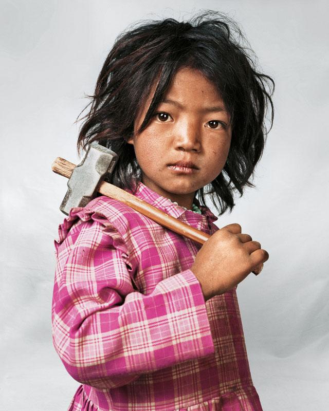 Indira, 7, Kathmandu, Nepal (James Mollison)
