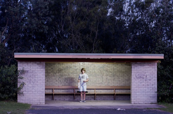 At the bus stop (by Brenton McGeachie)